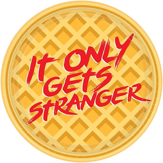 """Stranger Things 7"""" / 17cm Round Plates"