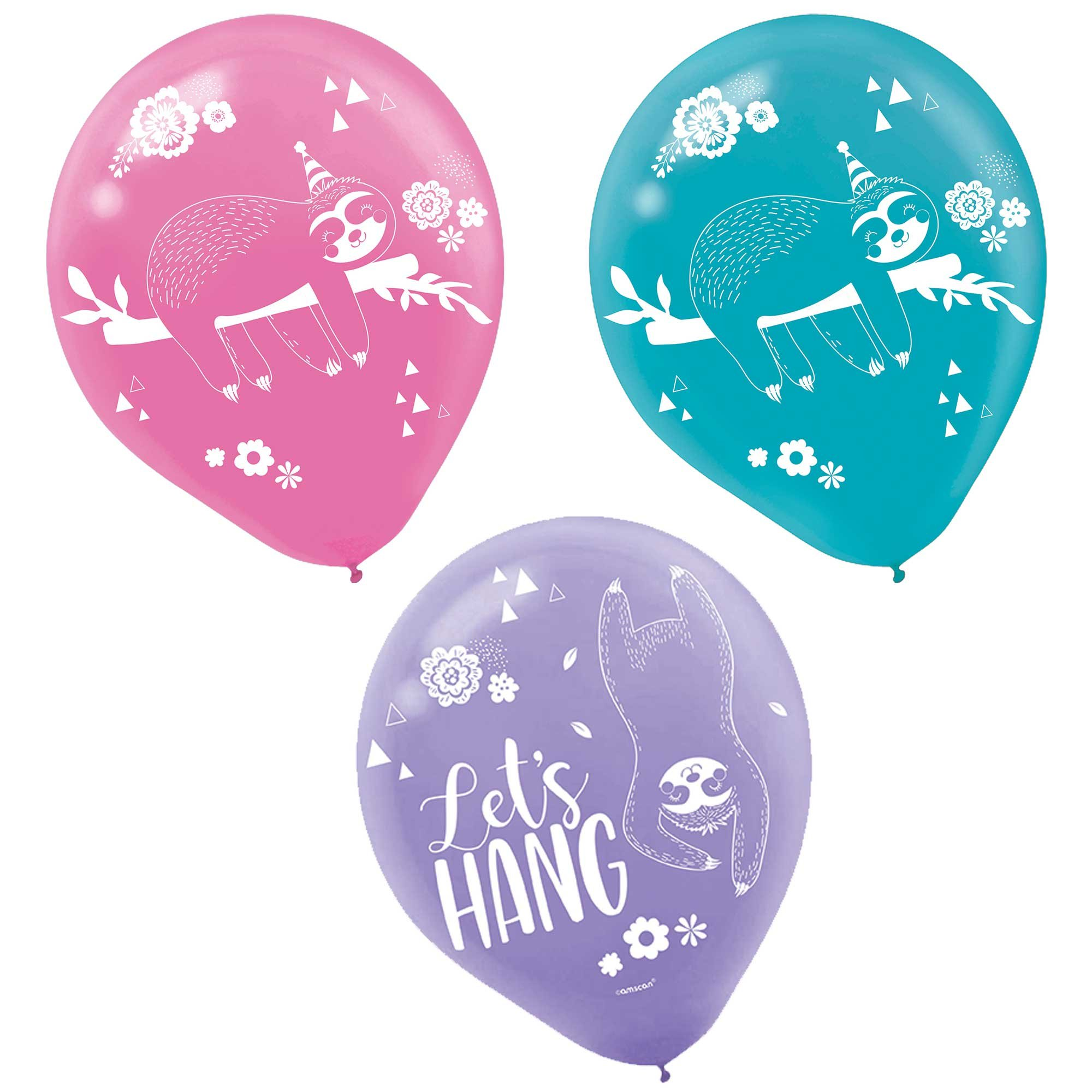 """Sloth 12""""/ 30cm Latex Balloons"