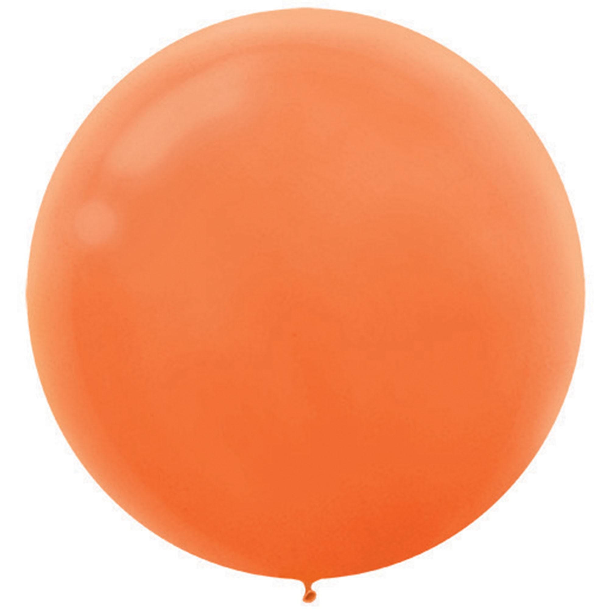 Latex Balloons 60cm 4 Pack Orange Peel