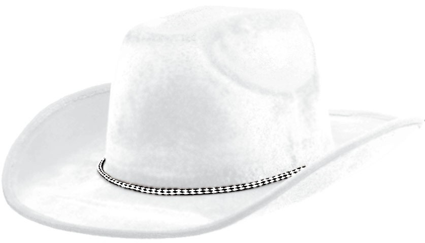 Cowboy Velour Hat - White