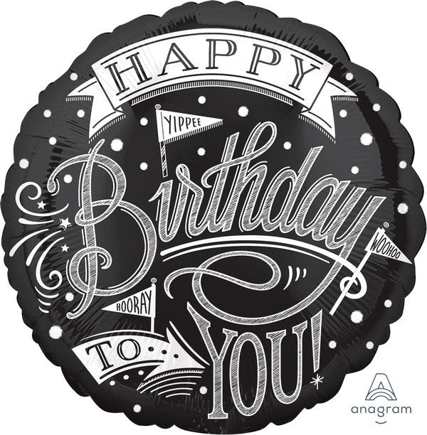 45cm Standard HX Hooray It's Your Birthday Chalkboard S40