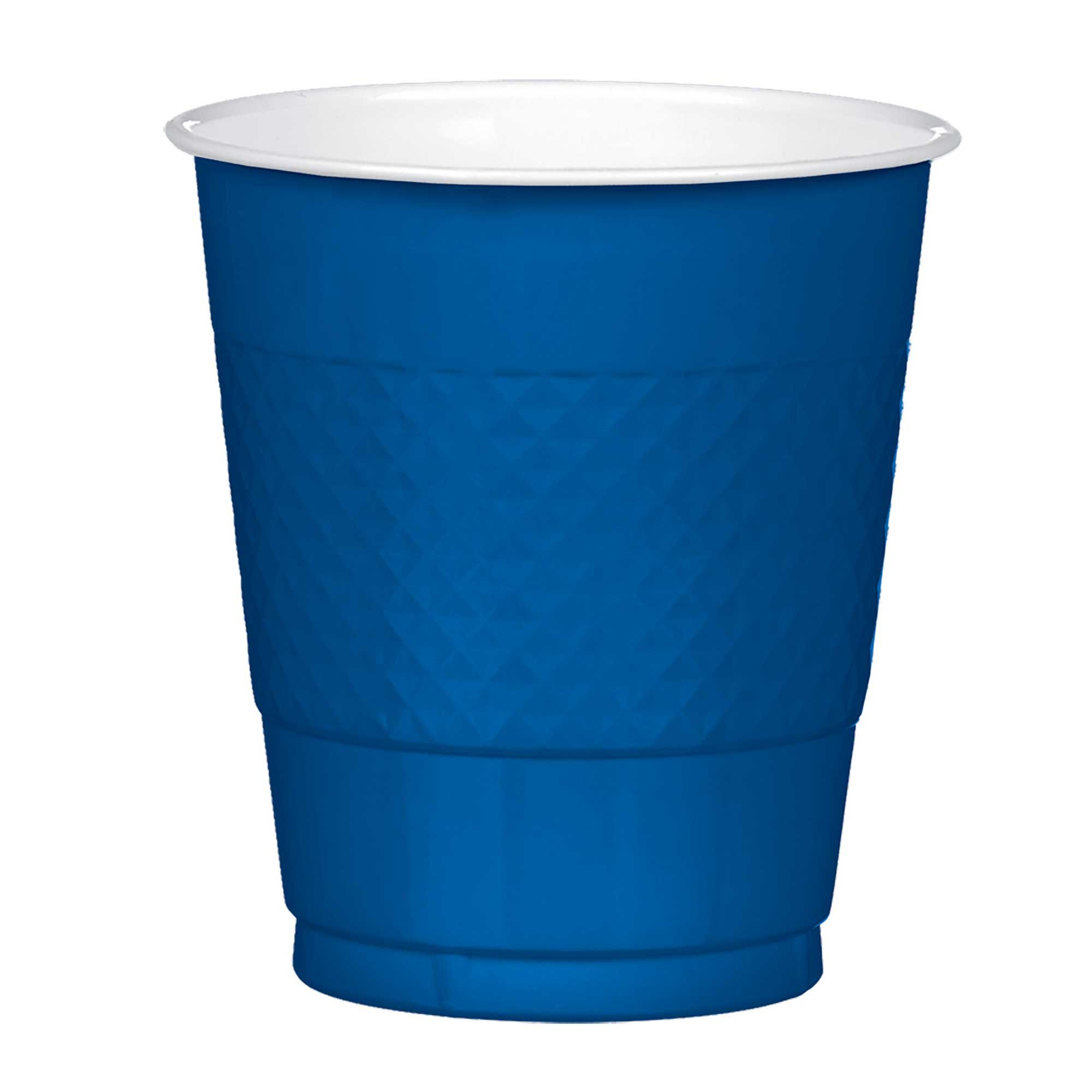 Plastic Cups 355ml 20CT Navy Flag Blue