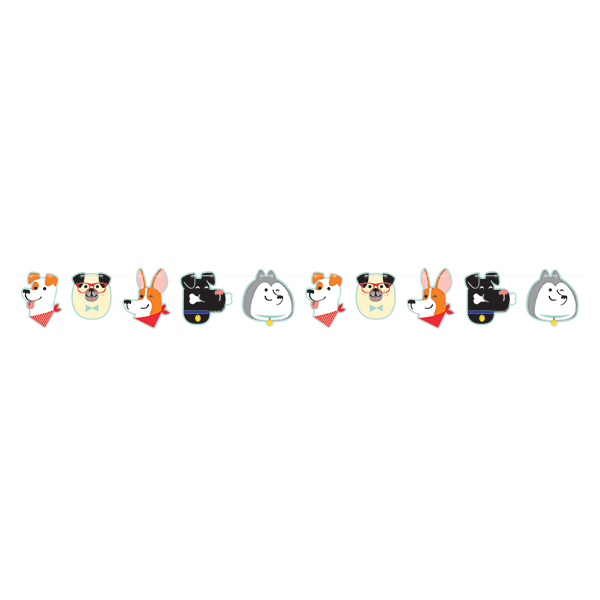 Dog Party Shaped String Banner 15cm x 1.9m