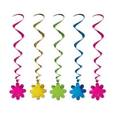 Flowers Hanging Decoration Whirls