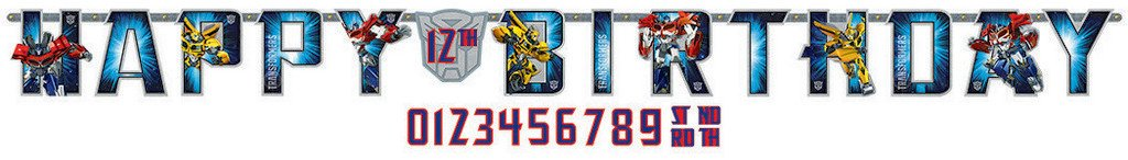 Transformers Core Jumbo Add-An-Age Banner - Printed Paper