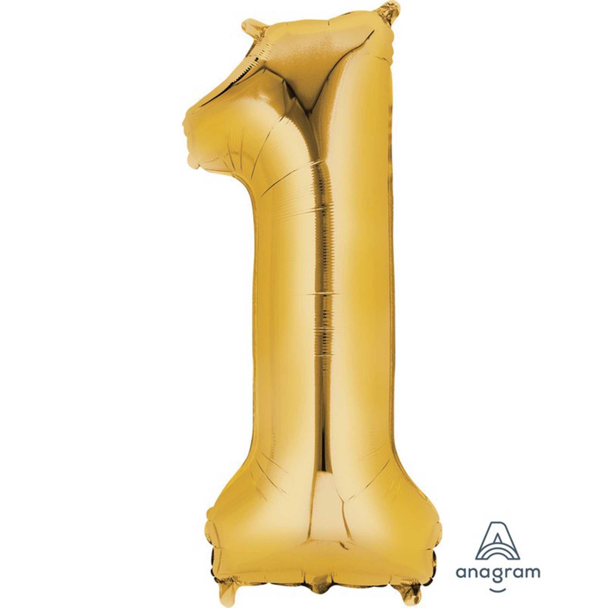 SuperShape Gold Numeral 1.  86cm L34