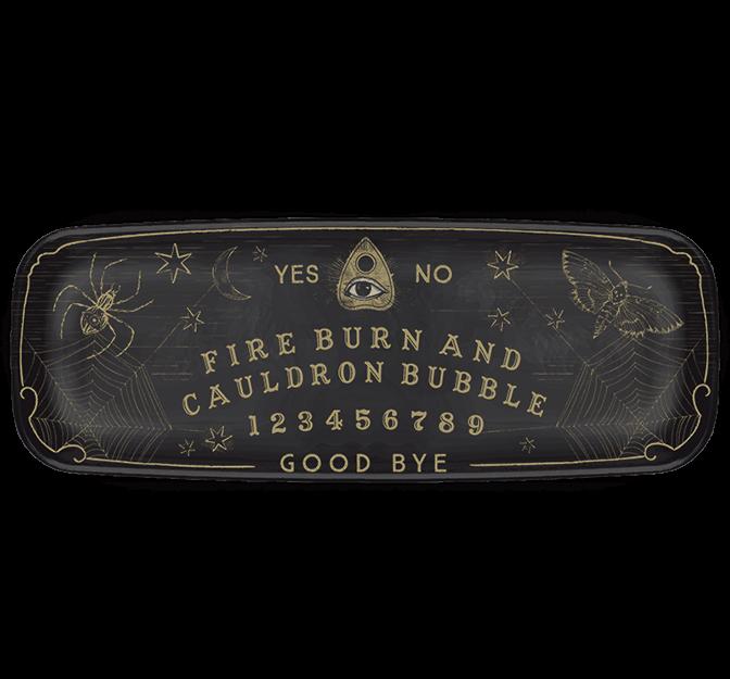 Spooks & Spells Long Platter Ouija Design