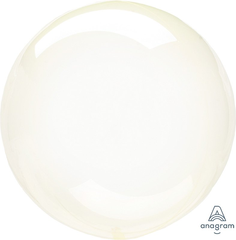 Crystal Clearz Petite Yellow Round Balloon S15
