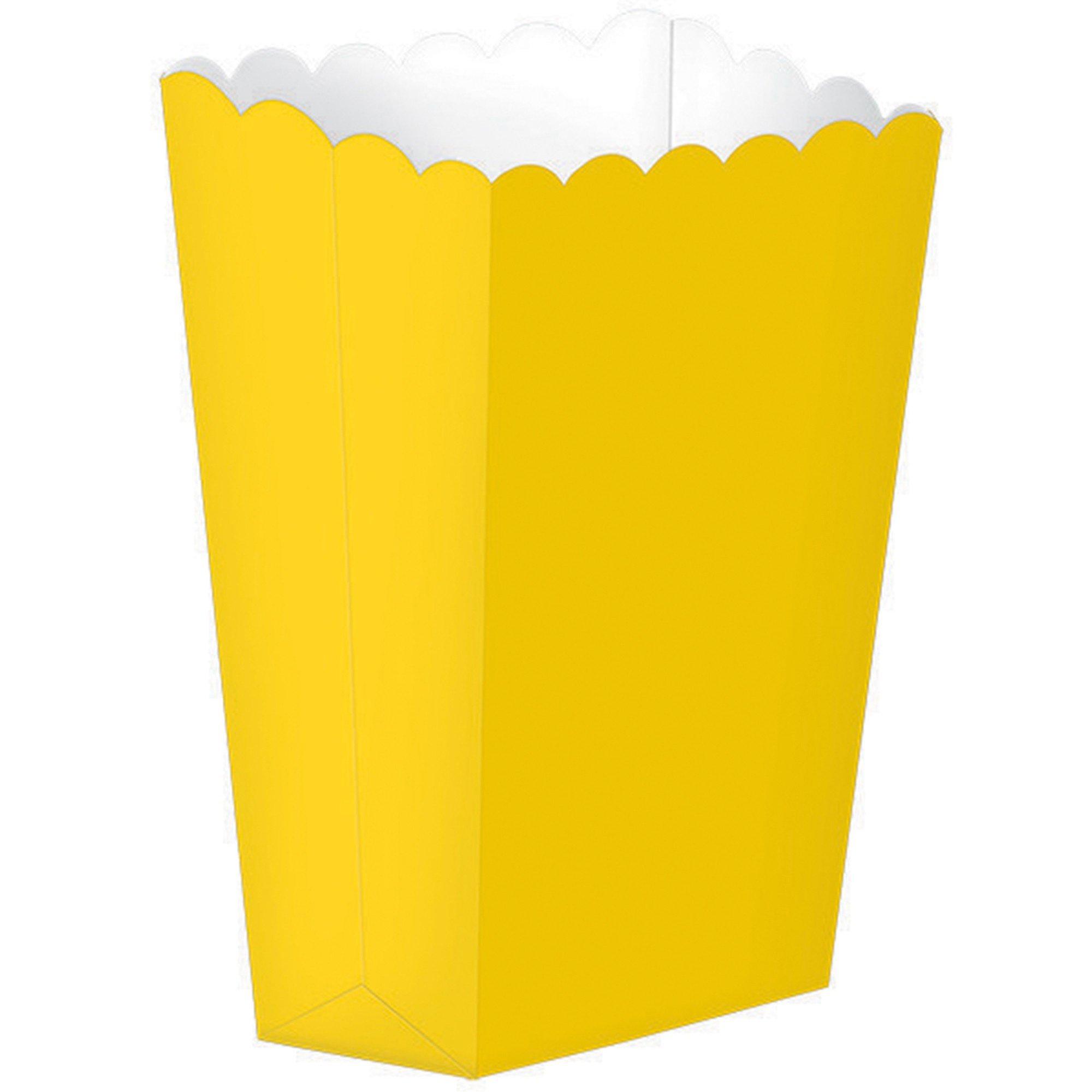 Popcorn Favor Boxes Small Sunshine Yellow