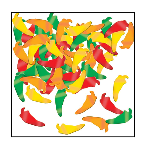 Confetti Chilli Peppers Foil 28g