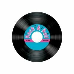 Rock N Roll Record Shaped Drink Coasters