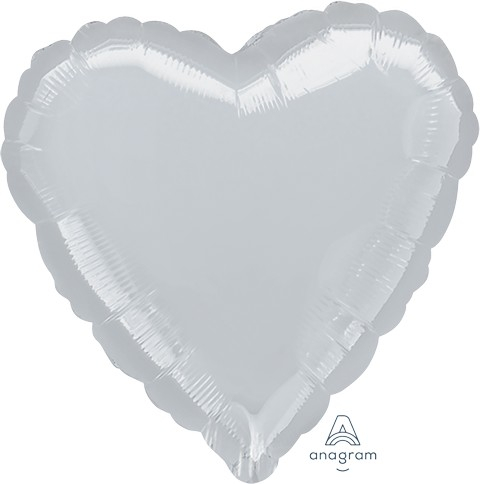 Jumbo Shape Heart Metallic Silver Heart P20
