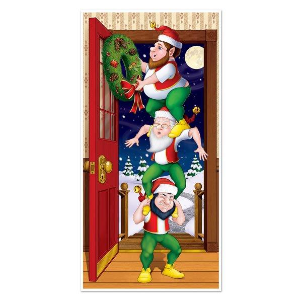 Door Cover Christmas Elves