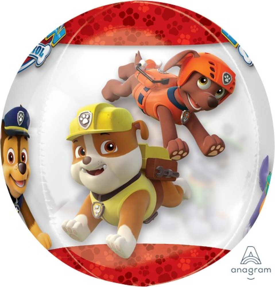 orbz xl paw patrol chase and marshall clear g40  amscan