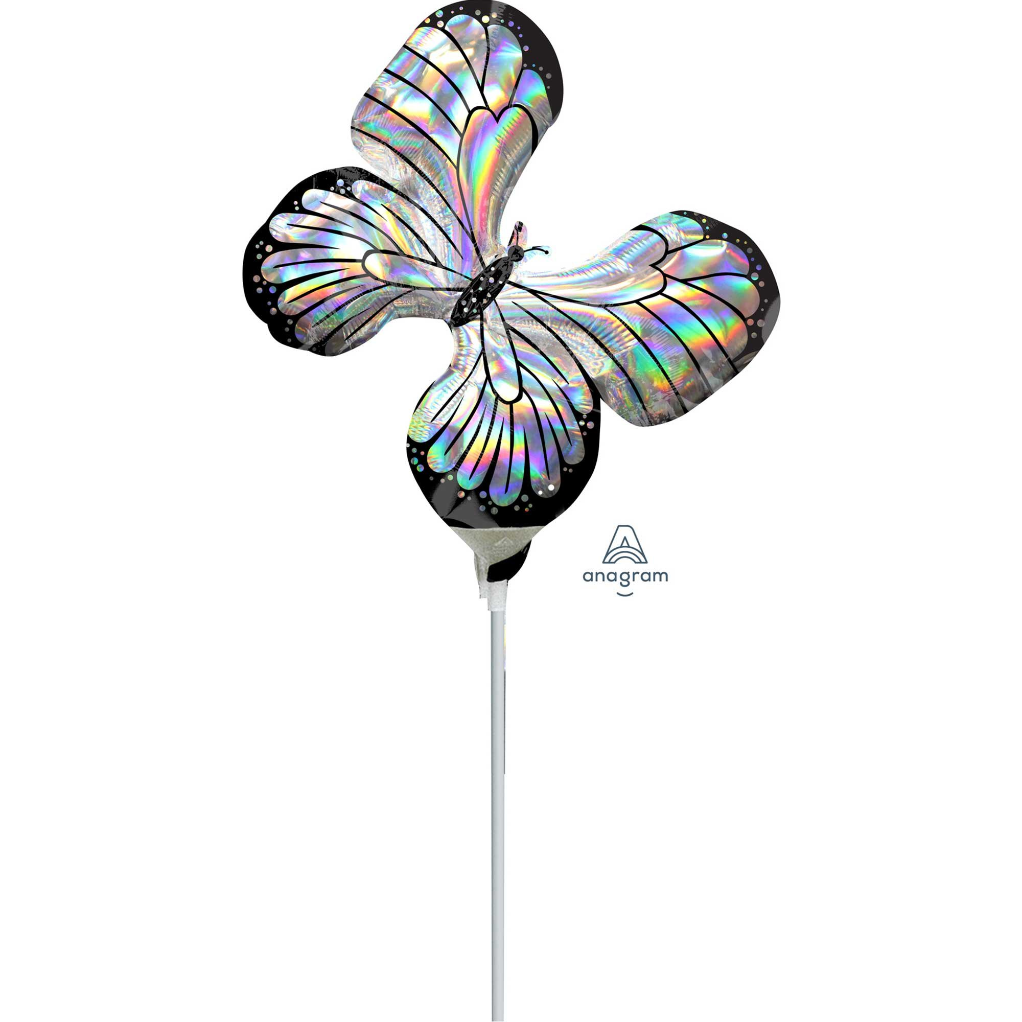 Mini Shape Holographic Iridescent Butterfly A30