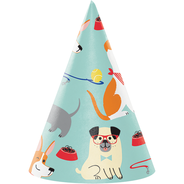 Dog Party Cone Shaped Party Hats