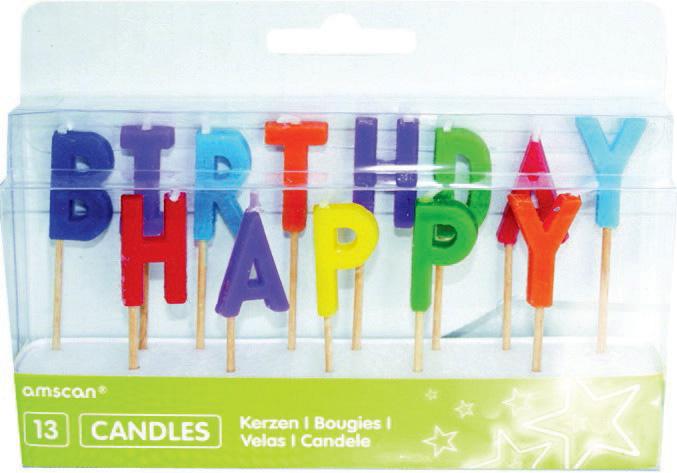 Happy Birthday Pick Candle