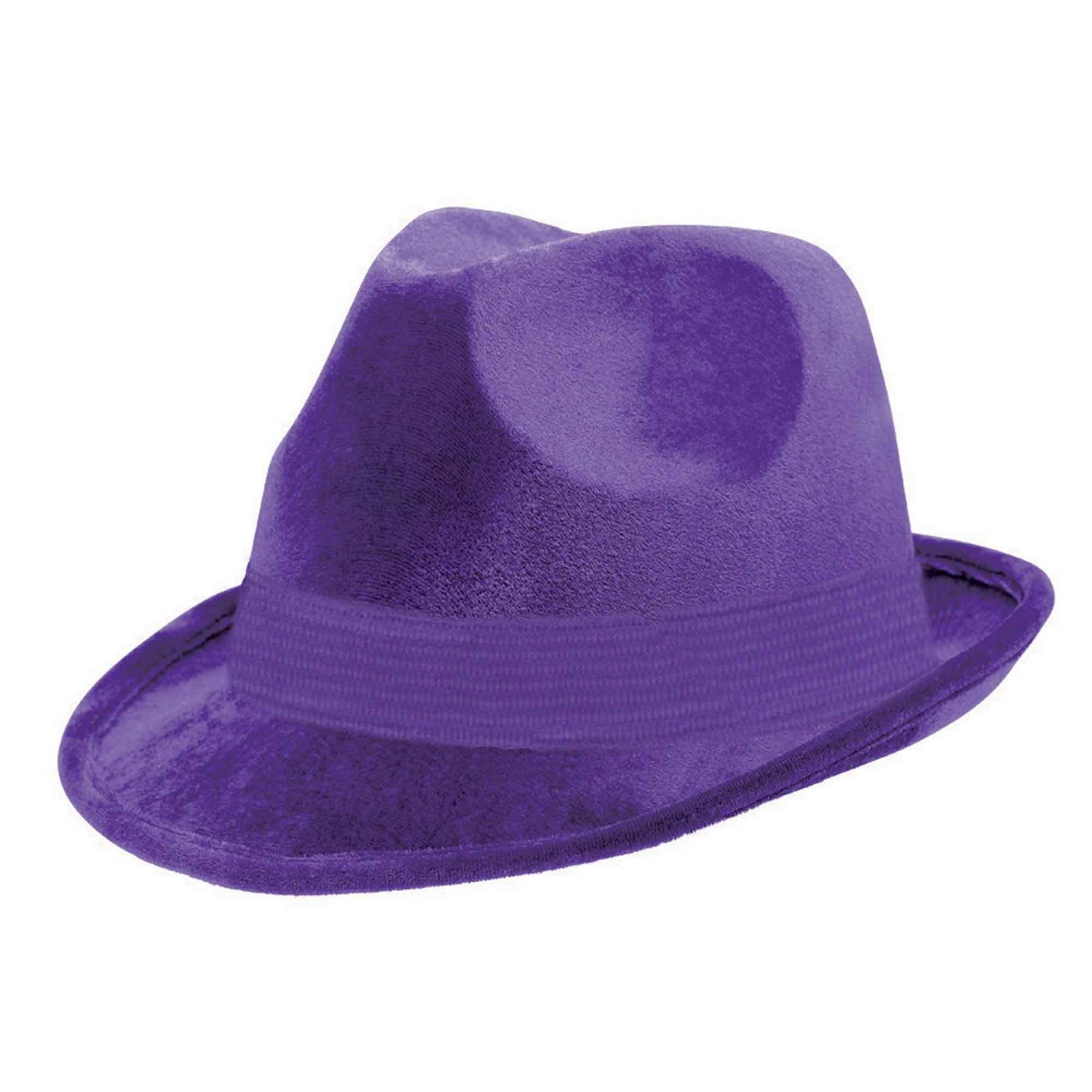 Fedora Velour Hat  - Purple