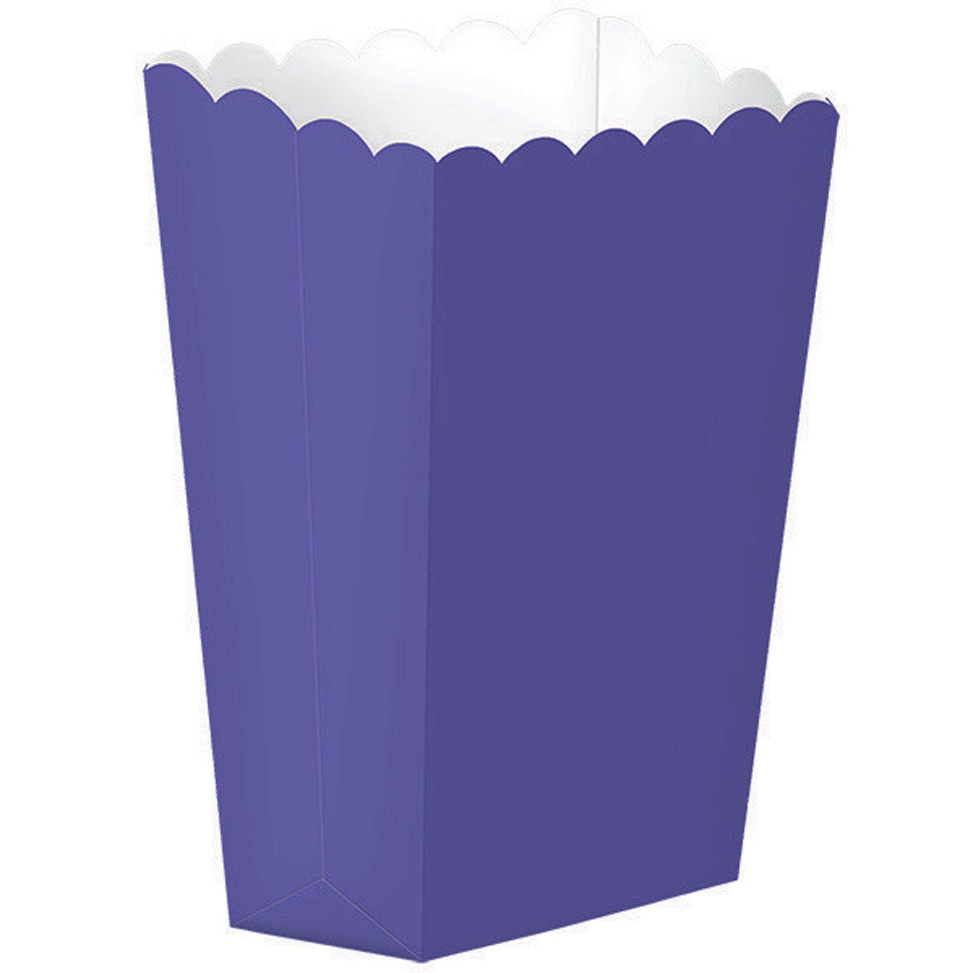 Popcorn Favor Boxes Small New Purple