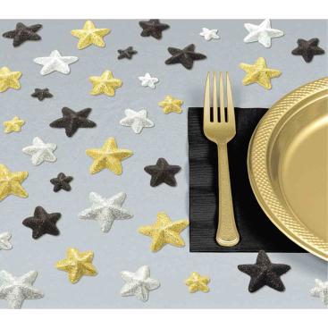 Glitz & Glam Table Star Scatters Glittered Foam Sprinkles