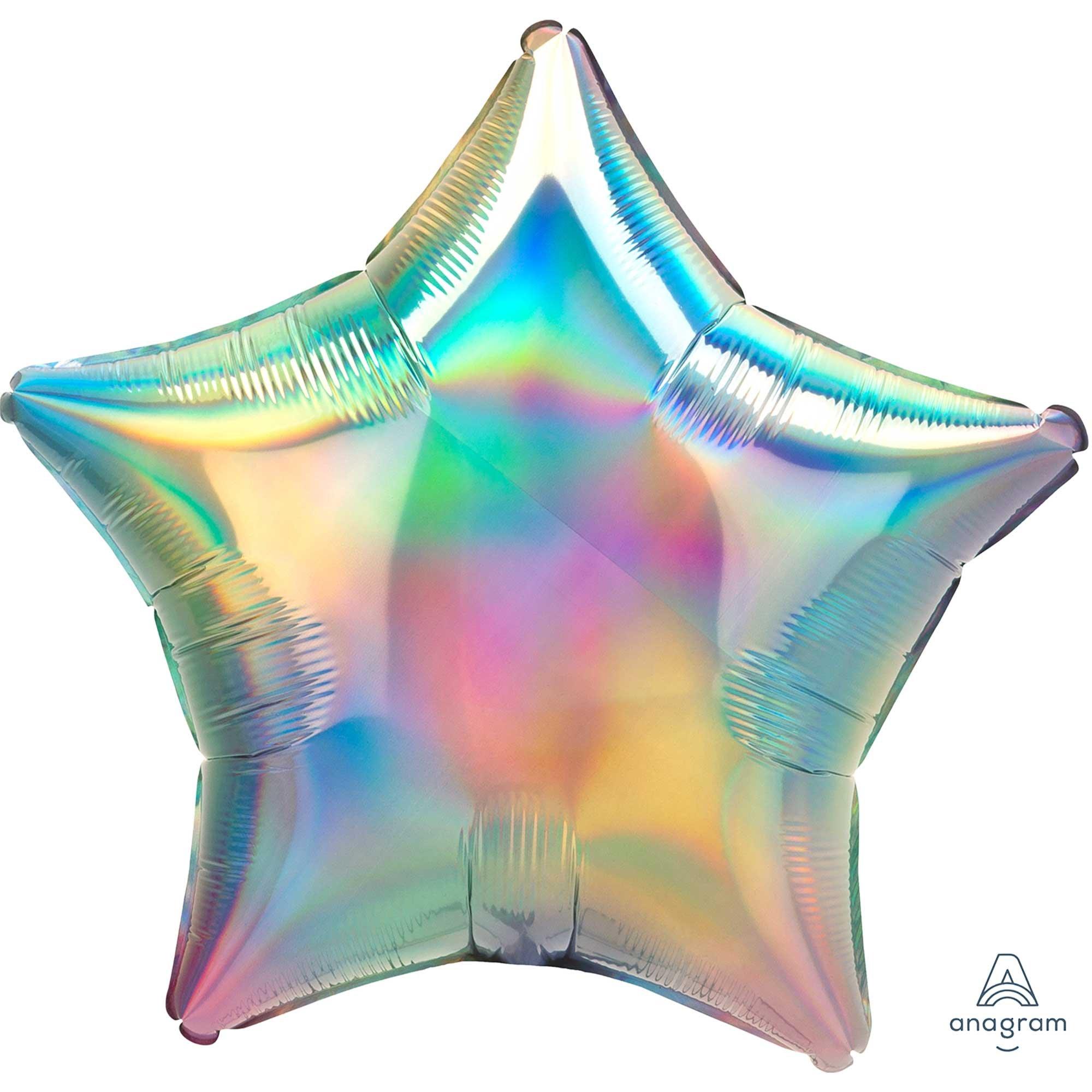 45cm Standard Holographic Iridescent Pastel Rainbow Star S40