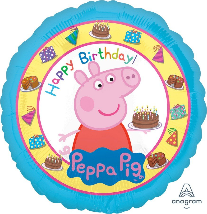 45cm Standard HX Happy Birthday Peppa Pig S60
