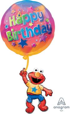 SuperShape XL Elmo Floating Birthday P35