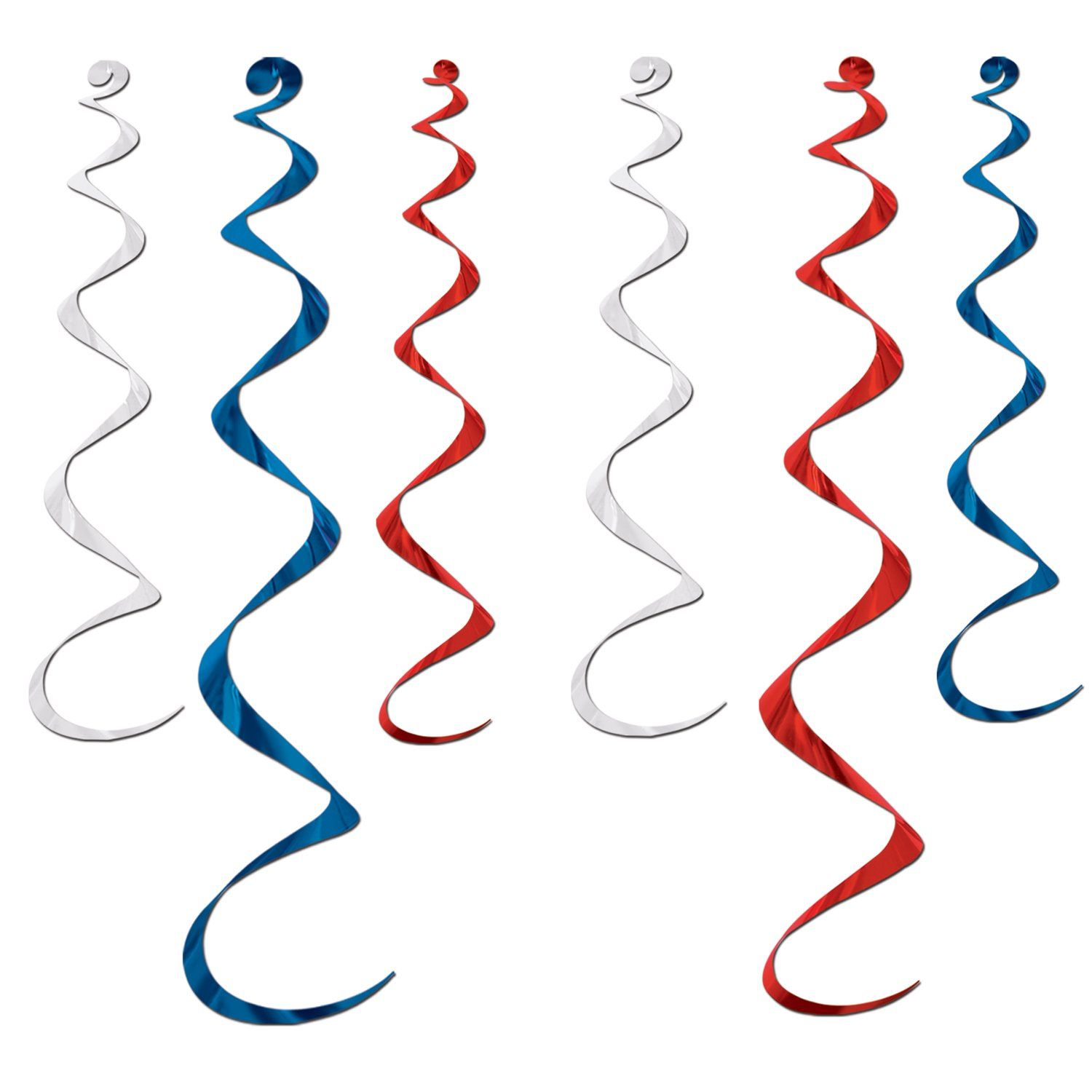 Hanging Decorations Twirly Whirlys Red, White & Blue