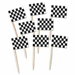 Checkered Racing Flags Black & White Picks
