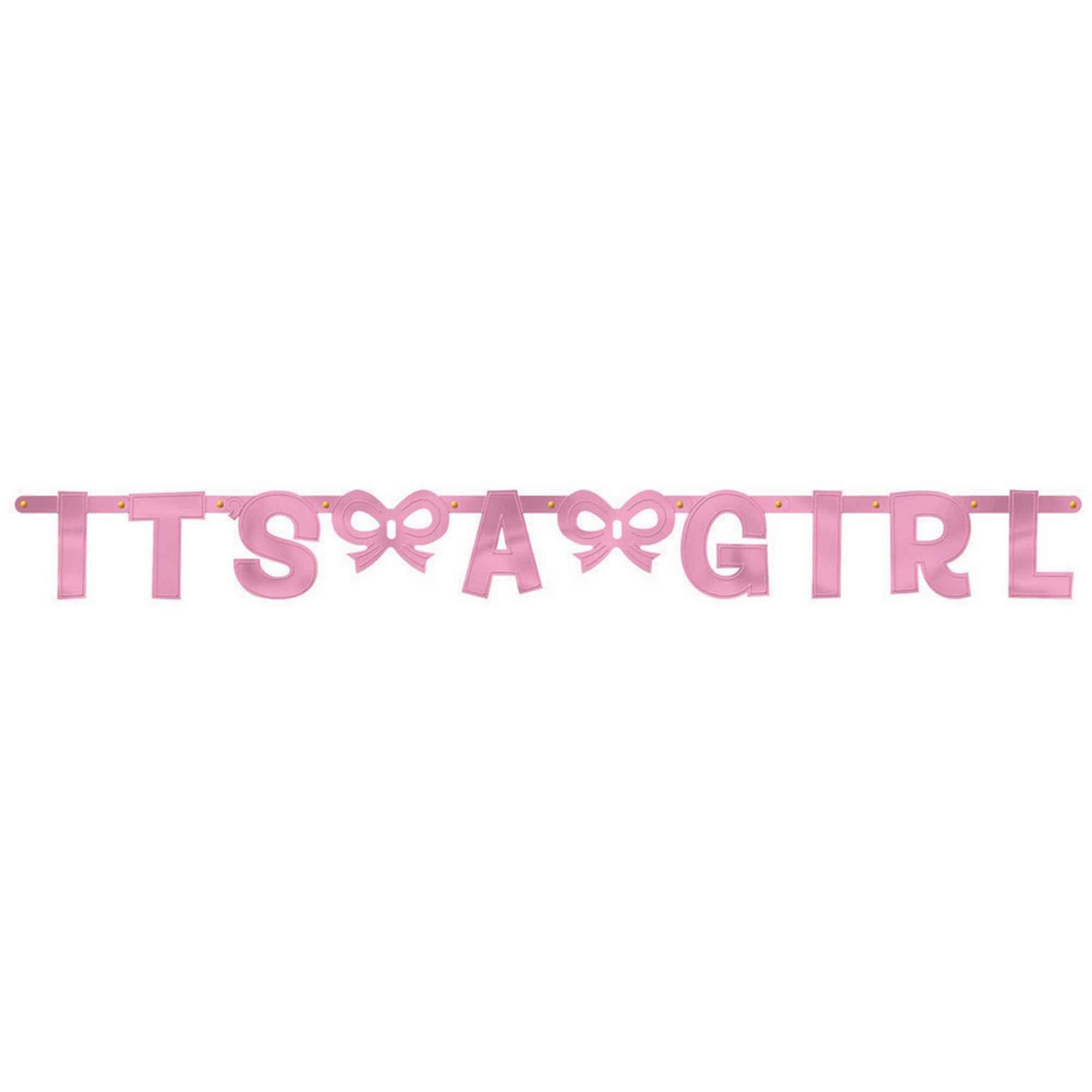 Baby Girl Foil Banner