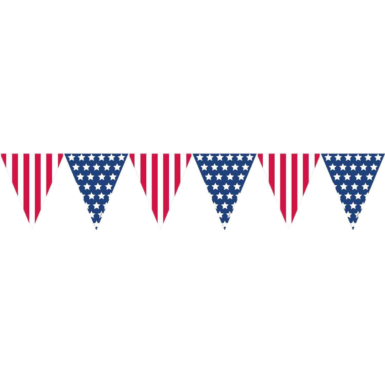 Stars & Stripes Pennant Banner