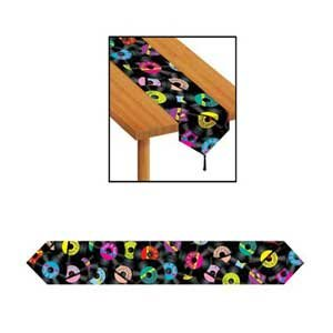 Rock and Roll Records Table Runner & Tassels