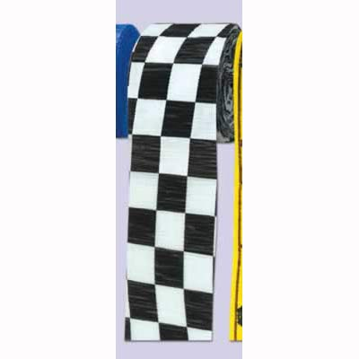 Checkered Black & White Crepe Streamer