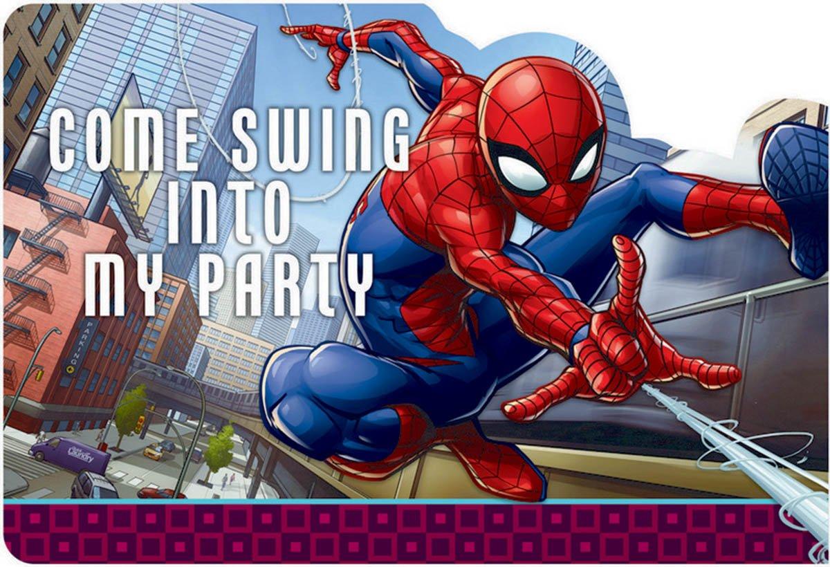 Spider-Man Webbed Wonder Postcard Invitations
