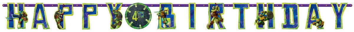 Teenage Mutant Ninja Turtles Jumbo Add-An-Age Banner