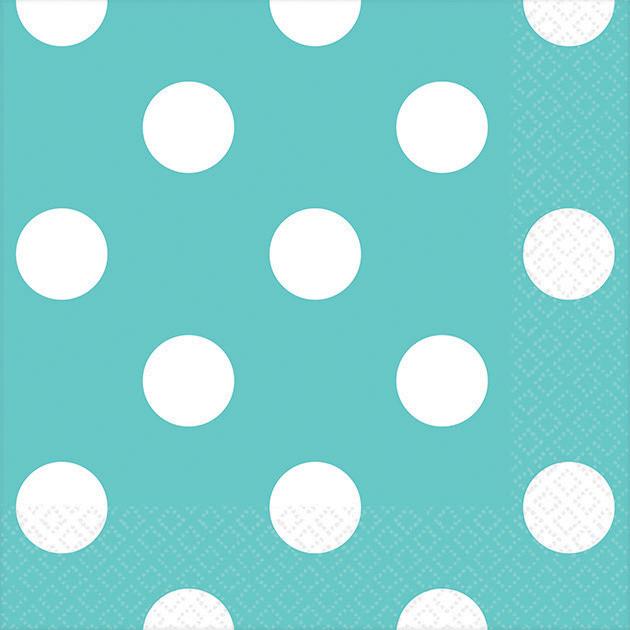 Dots Beverage Napkins Robin's-egg Blue