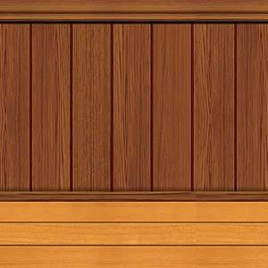 Backdrop Floor & Wainscoting Wooden Scene Setter