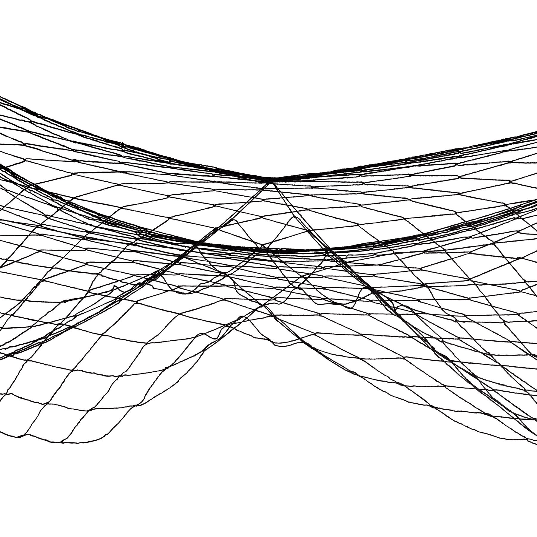 Fish Netting Decoration Black