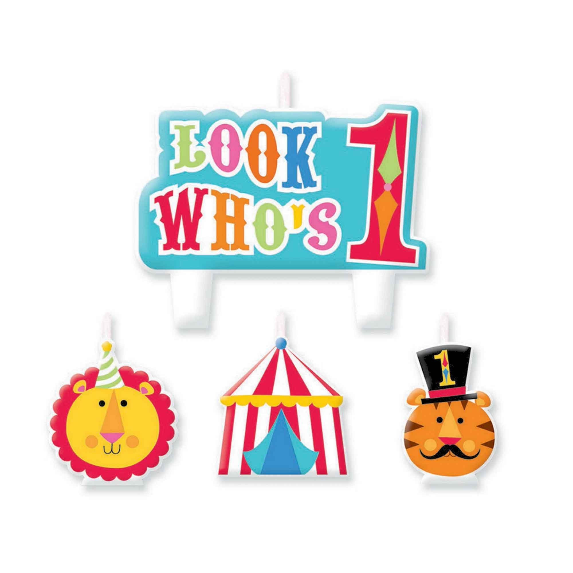 Fisher Price 1st Birthday Circus Candle Set
