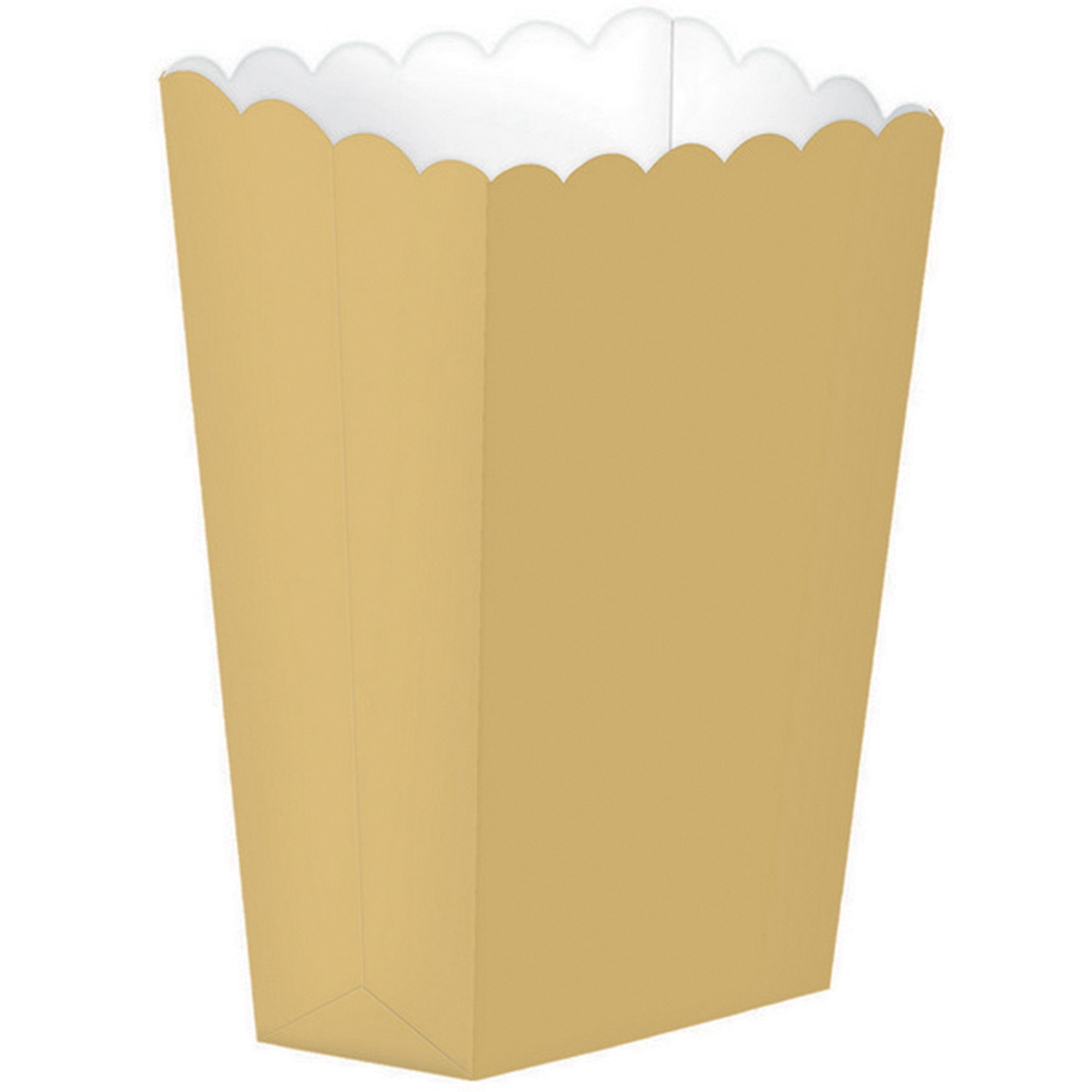 Popcorn Favor Boxes Small Gold