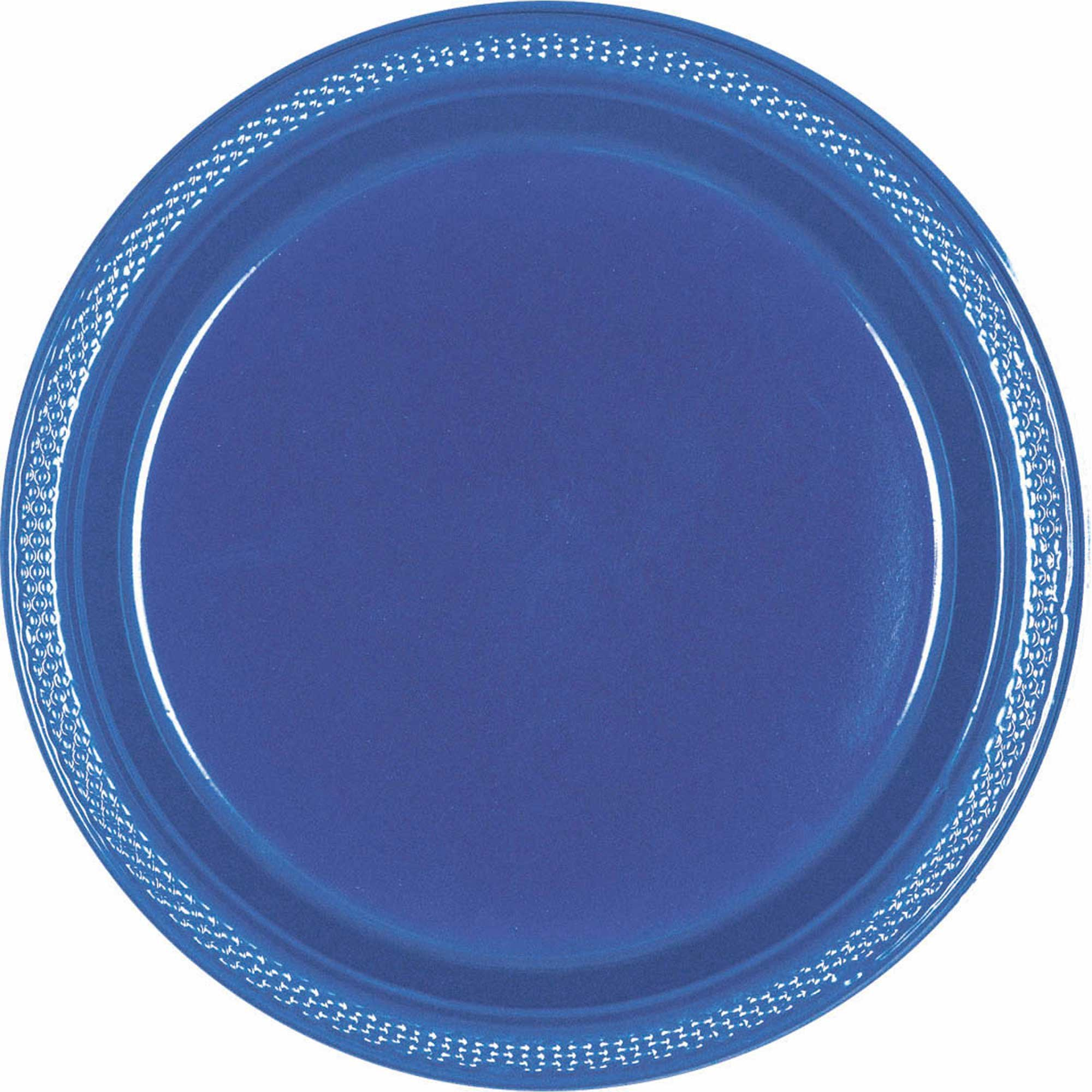 Plastic Plates 26cm 20CT Navy Flag Blue