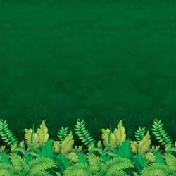 Backdrop Jungle Foliage Scene Setter