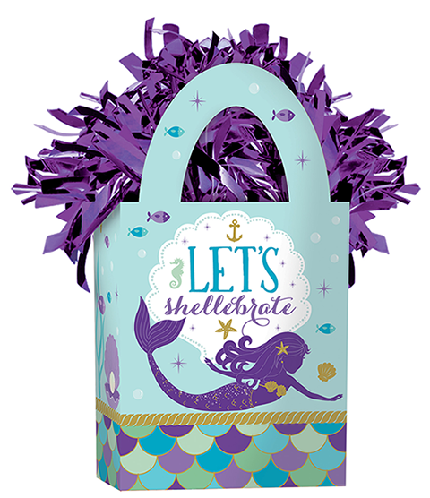 Mermaid Wishes Mini Balloon Tote Weight