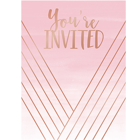 Rose All Day Invitations You're Invited Rose Gold Foil