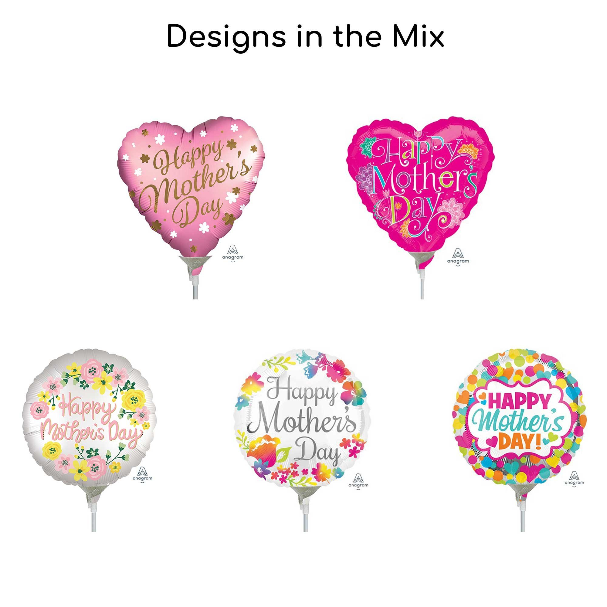 22cm Happy Mother's Day Balloon Mix 1 (25 balloons)