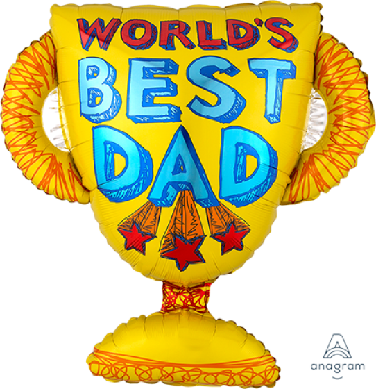 SuperShape World's Best Dad Trophy P30