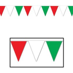 Pennant Flag Banner Red, White & Green