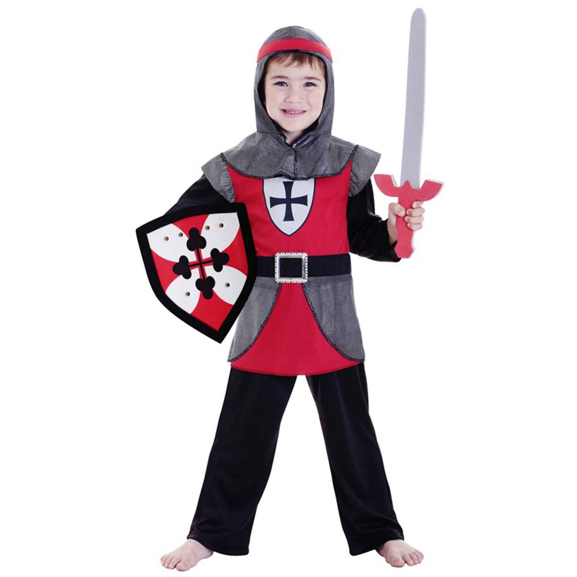 Deluxe Knight Boy Costume (Large) 6-8 yrs
