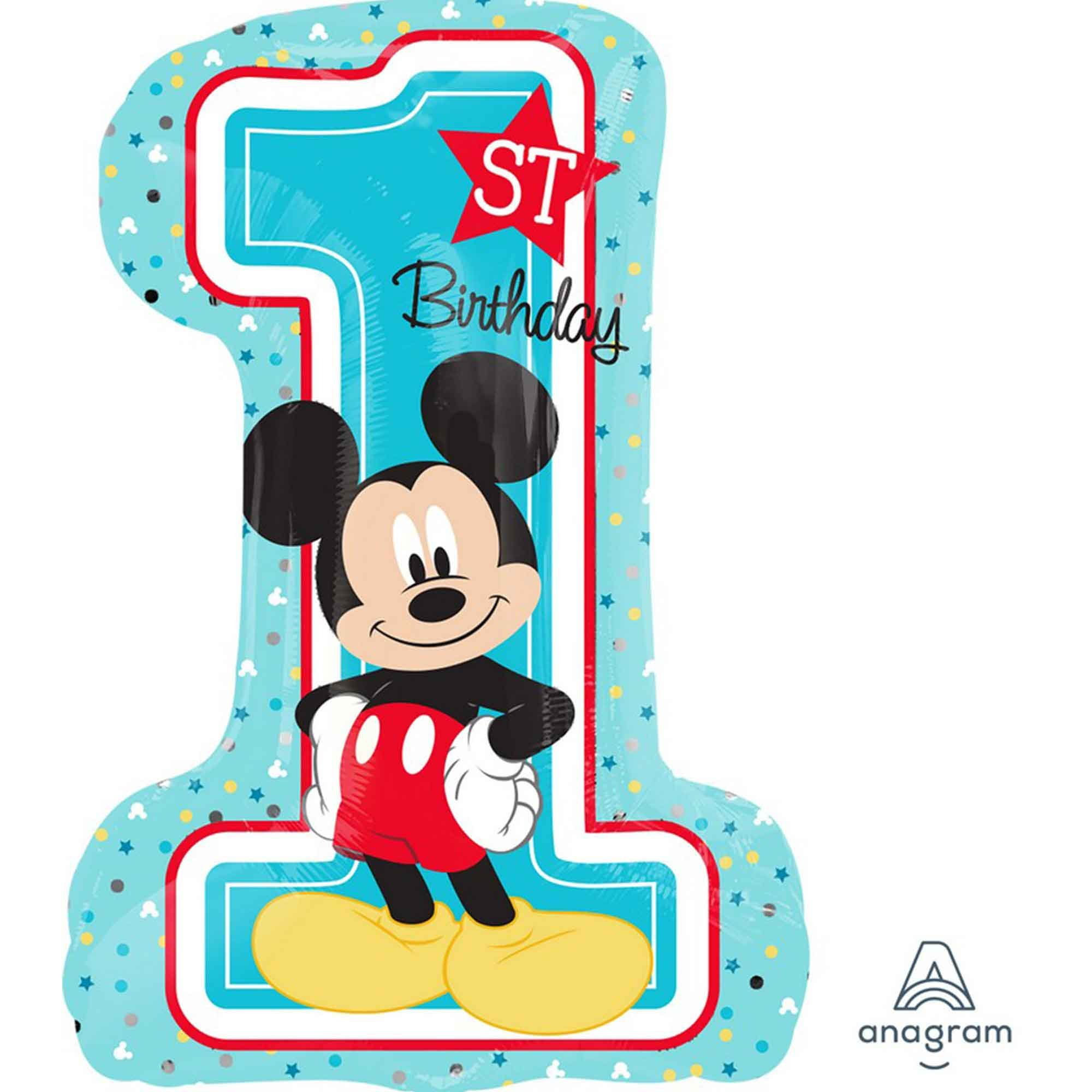 SuperShape XL Mickey 1st Birthday P38