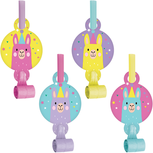 Llama Party Blowouts with Medallions